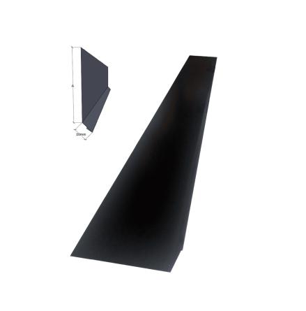 Isticksplåt svart A=210mm 0,6mm 2m