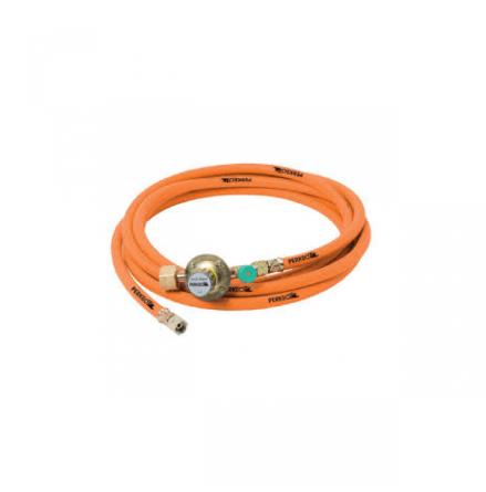 Perkeo gasolslang 6 x 5 mm, 20 m med regulator 41510053