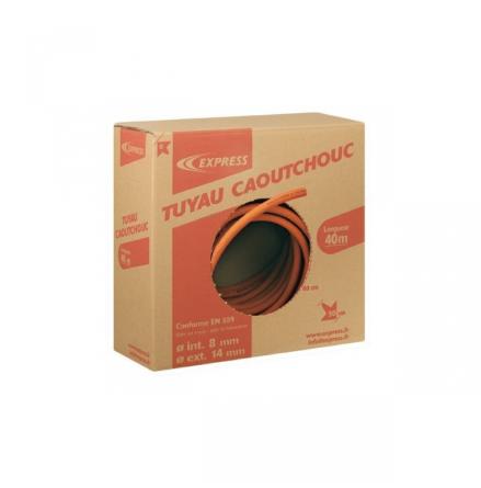 Brännarslang av gummi, 8 mm, pris per meter, 948/40