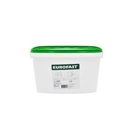 Eurofast skruv + bricka 5.0x25 mm 250 st Aluminium-Zink